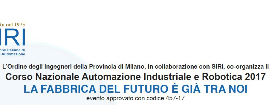 Corso Nazionale Automazione Industriale e Robotica 2017
